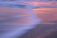 Beach Reflection, Sunset, Santa Cruz, California