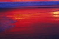 Beach, Sunset, Reflection, Santa Cruz, California