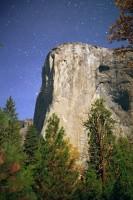 El Capitan by Moonlight - Yosemite Valley, Stars, Moon, Night time