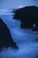 Mendocino Headlands,Night photography, moonlit, moon, seascape, ocean,