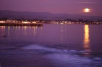 Full moon, Sunset, Santa Cruz