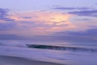 Sunset-and-Barrel-Wave-Santa-Cruz, California, Ocean, Waves, Clouds