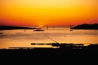 Golden Gate Bridge, San Francisco Bay, Berkeley Pier, Sunset