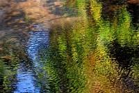 San Lorenzo River, Felton, California, Reflecton, Water, Abstract