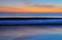 Seabright Beach, Santa Cruz, Sunset, California, Painting, Painterly,Abstract, Blur, Blurred, Blue, Orange, Waves,